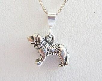 Saint Bernard Mini Pendant Charm and Necklace