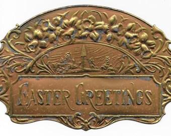 Embossed Foil Easter Die Cut, c. 1900