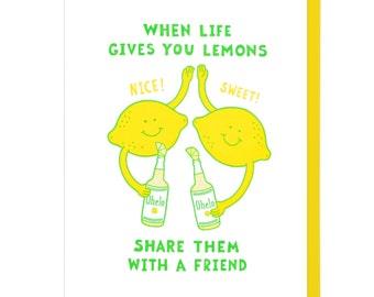 Lemon Friends Letterpress Card