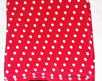 Crimson with White Polka Dot Pocket Square