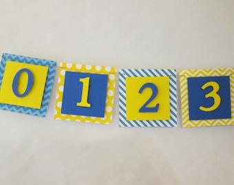 12 month photo banner, photo banner, happy 1st birthday banner