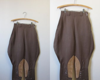 "1940s brown riding pants | 40's jodhpur breeches | 24"" waist"