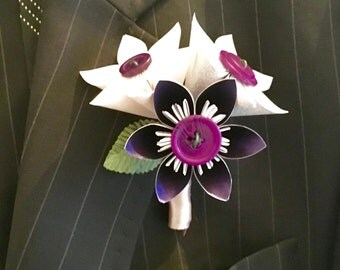 Kusudama Paper Flower Buttonhole
