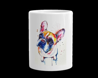 Colorful French Bulldog Coffee Mug