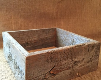 wood box rustic wood box wood crate reclaimed wood box rustic decor - Decorative Wooden Boxes