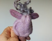 Troll miniature elf, wimsical friend OOAK Art doll.Scandinavian cute plushie creature Hand felted,rare fleece.Natural dye