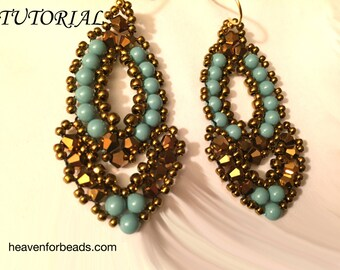 "Tutorial for beaded earrings ""Esmeralda"""