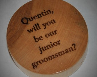 Wooden Hockey Puck, Engraved Puck, Personalized Hockey Puck, First Goal Trophy, Sports Trophy
