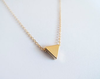 Gold Triangle  Necklace - Geometric Necklace