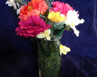 Glass Vase with 3 Flower Pens