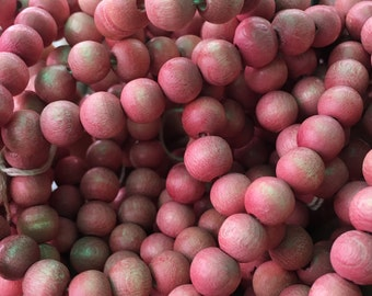 Pink Wood Beads 8MM