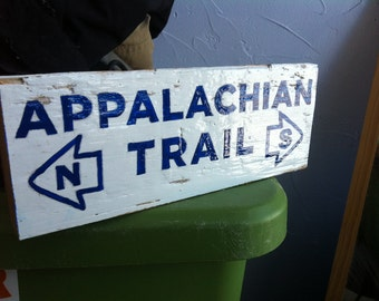 Appalachian Trail - small hand-painted reclaimed wood sign