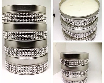 Soy candles, blinged out candle
