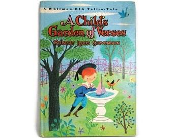 Vintage A Child's Garden of Verses Book by Robert Louis Stevenson- 1965 Whitman Publishing Company