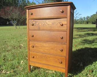 Oak Furniture Chest Of Drawers DresserTiger Farmhouse Decorbedroom