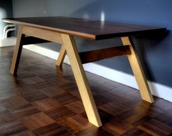 Mid century inspired reclaimed hardwood coffee table