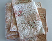 Pink Floral Baby Girl Quilt ~ Cottage Chic Baby Girl Quilt ~ Baby Blanket