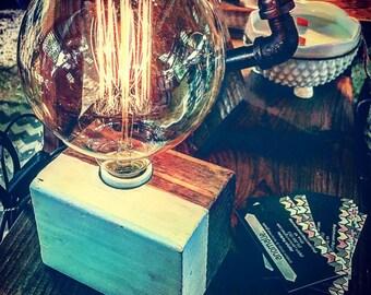 Reclaimed Edison Bulb Table Lamp