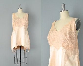 SALE 50% 40s Bra/Girdle // 1940's Deadstock Peach Corselette w/ Lace & Elastic // Plus Size