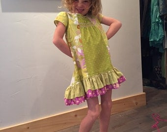 Ruffles, Tucks, Ribbons and Giggles,Childs Dress