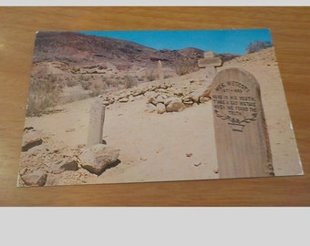 Vintage ORIGINAL Calico Ghost Town Boot Hill Barstow California Postcard Free Shipping