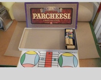 1989 Milton Bradley Deluxe Edition Parcheesi A Royal Game Of India Complete