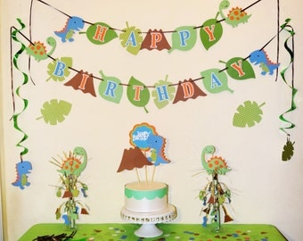 Celebrate any event with a Dinosuar party in a box / Fun Ideas For Birthday Baby Shower Boy Girl  Parties / Dino Celebration / Dinosaurs