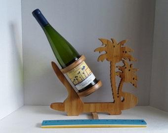 Bamboo Palm Trees Wine Bottle Holder