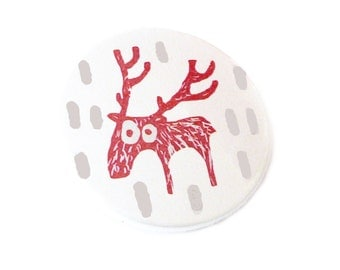 Moose, pin, magnet, compact mirror or bottle opener