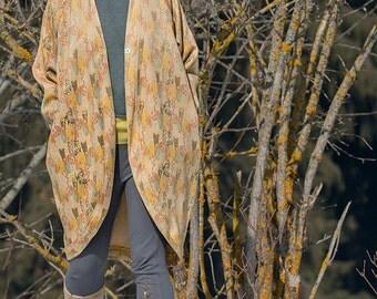 Oversized Cardigan, jacket in yellow, light summer jacket, Modern Spring coat, Asymmetrical Summer Coat, Boho coat, jackets & coats, clothes