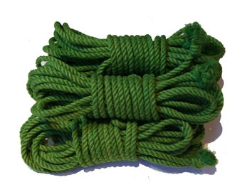 Emerald Green 5 Hank Jute Rope Set for Shibari