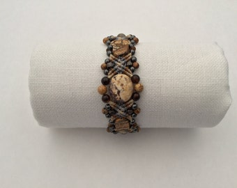 Micro Macrame Bracelet in Soothing Earth Tones