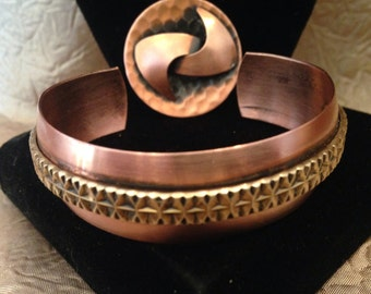Genuine Copper Bracelet with copper Brooch