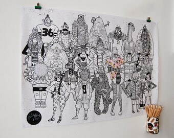 Woodles Doodles - A1 Colouring in Poster with 10 Coloured Pencils