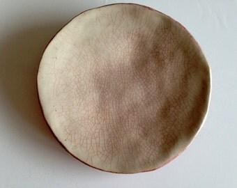 Plate - Steingzeug & glaze, pigments (18 cm)