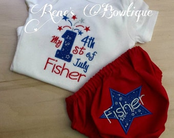 1st Fourth TShirt and Bloomer