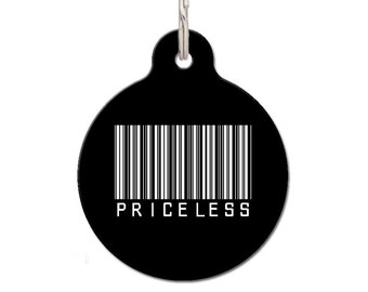 Priceless Barcode Pet ID Tag - Colour Options | FREE Personalization