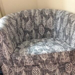 Ikea tullsta chair cover pattern patron housse ikea tullsta - Housse bz 140 ikea ...