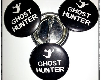 "Ghost Hunter 1.25"" (31.7mm) Pinback Button"