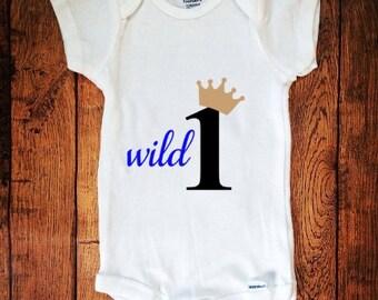 Wild One, Birthday Outfit, Boy Birthday,Wild One Birthday, Baby Outfit, Baby Bodysuit, Quote Outfit, Wild One with Crown, Boy Wild One