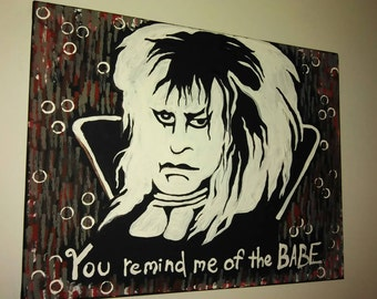 Labyrinth Goblin King Jareth David Bowie you remind me of the babe painting