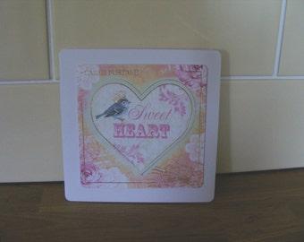 Sweet Heart Handmade Card