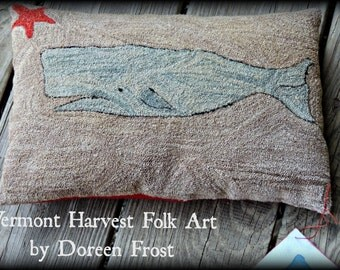 Pattern: Olde Blue Punch Needle by Doreen Frost for Vermont Harvest Folk Art