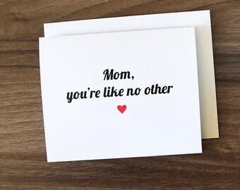 Birthday Card For Mom, Mom Birthday Card, Cute Mother's Day Card, Cute Mothers Day Card, Gift for Mom, Birthday Card For Mom, Mothers day