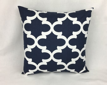 Decorative Throw Pillows Navy - Navy Blue Accent Pillow Cover-Pillows for couch