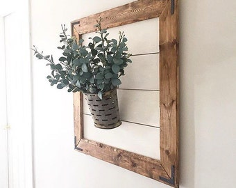 Large framed Shiplap Wall Decor limited quantities
