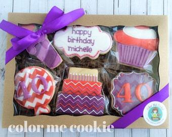 Gift box of 6 HAPPY BIRTHDAY Sugar Cookies