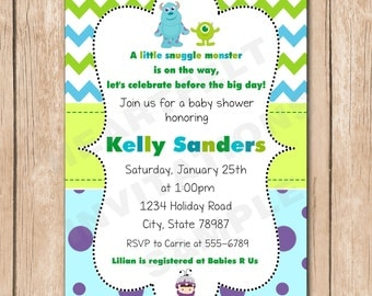 Monsters Inc Baby Shower | Etsy