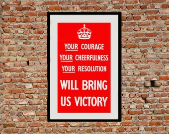 Reprint of the WW2 Poster Your...Victory