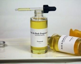 Lemongrass Palmarosa  Body Oil. Hydrating Bath And Body Oil. 100ml Glass Bottle.